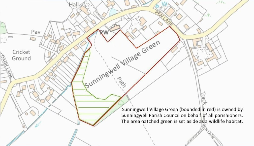Sunningwell Village Green boundary map