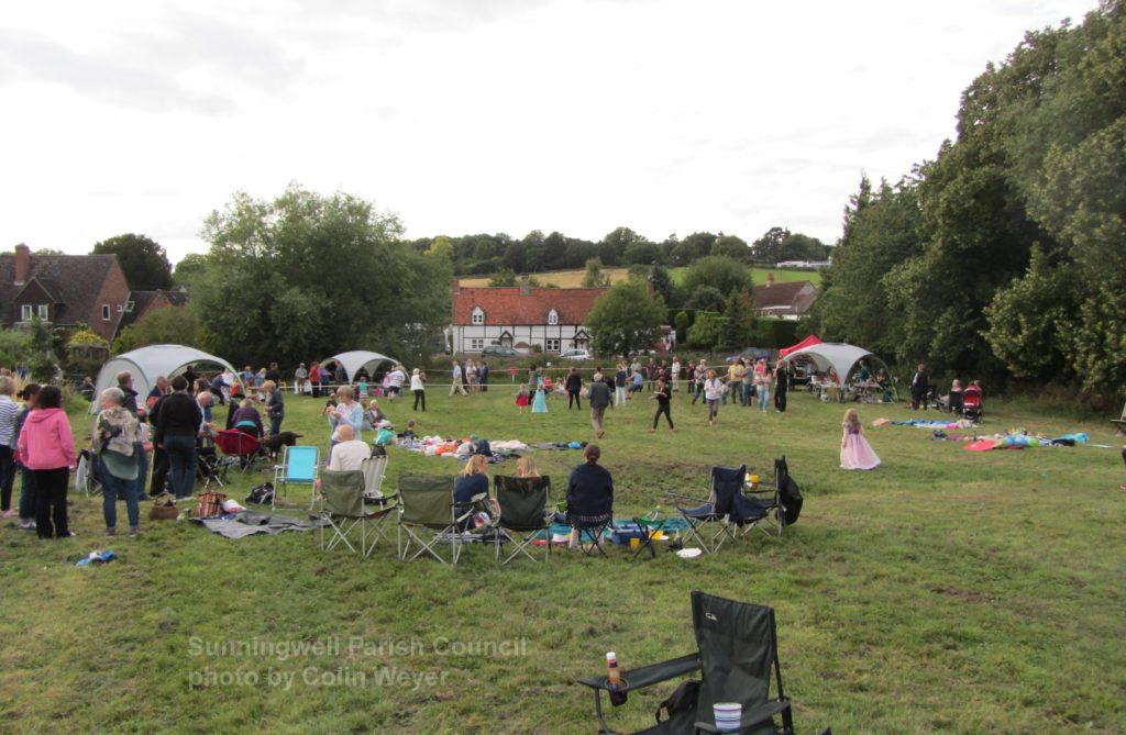 A fete on Sunningwell Village Green summer 2015